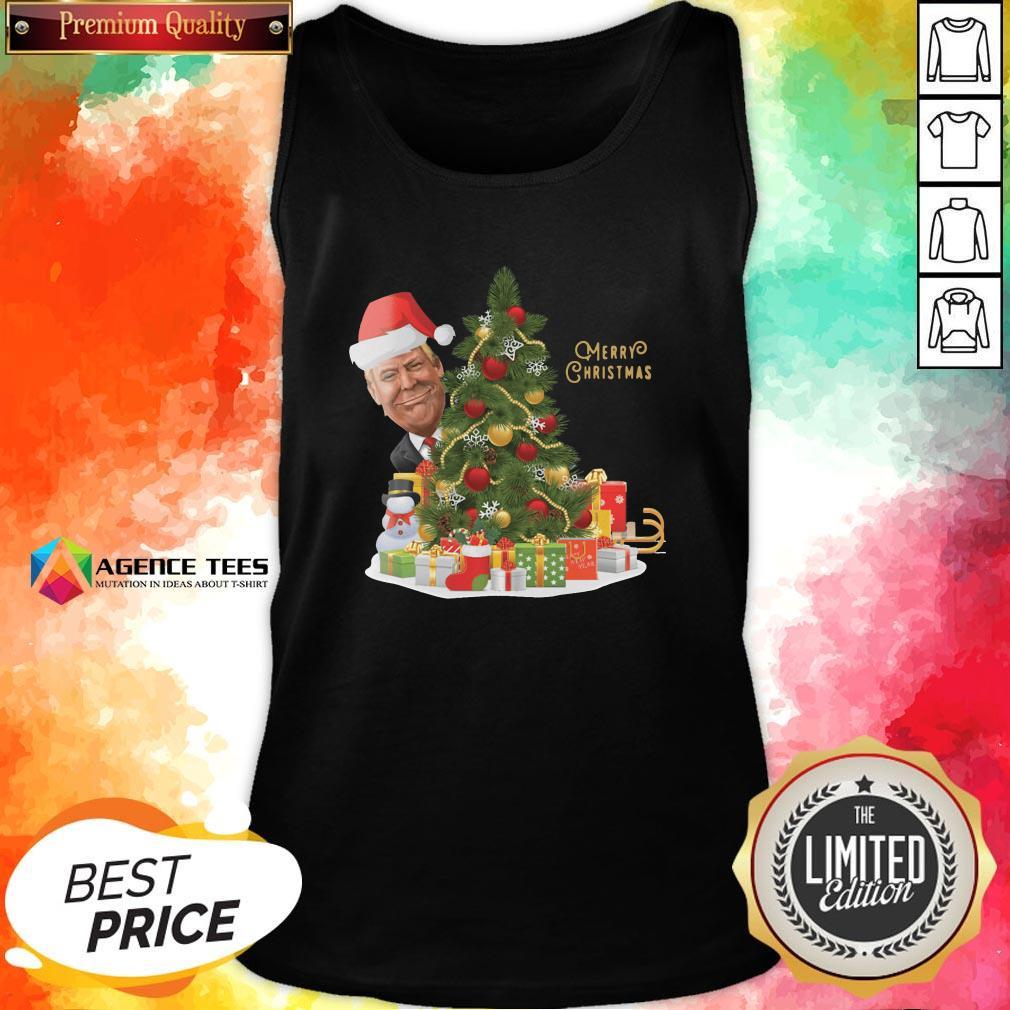 Hot Trump Merry Christmas Tank Top Design By Agencet.com
