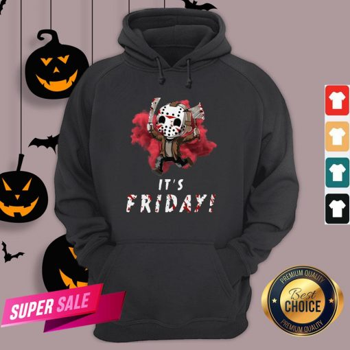 Jason Voorhees Chibi It'S Friday Halloween Hoodie