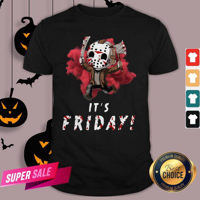 Jason Voorhees Chibi It'S Friday Halloween Shirt