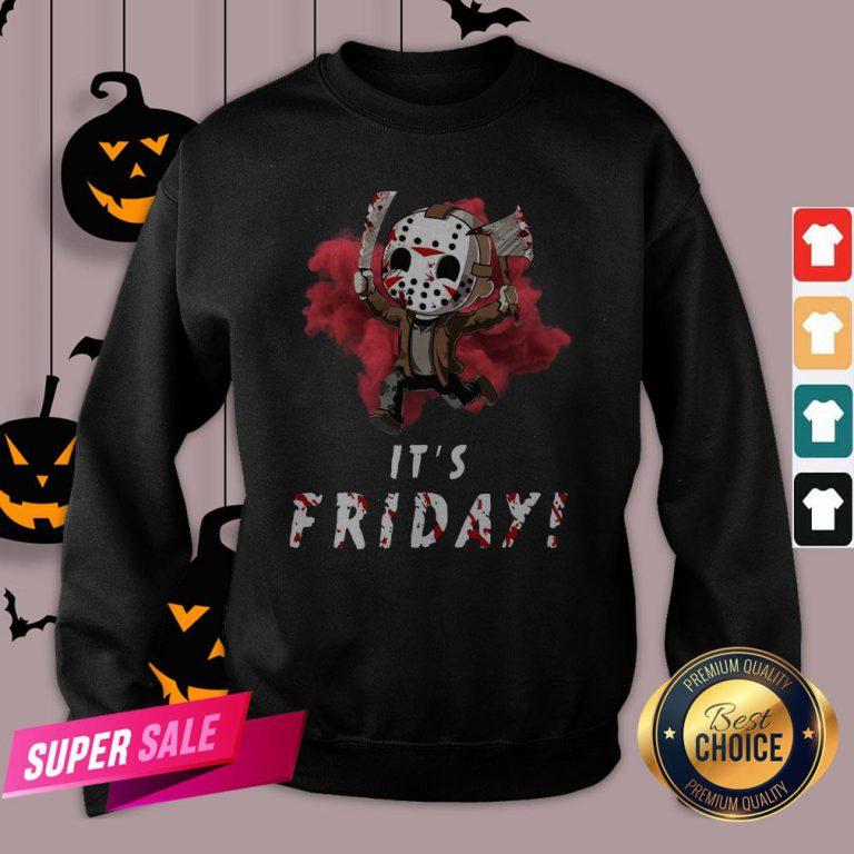 Jason Voorhees Chibi It'S Friday Halloween Sweatshirt