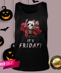 Jason Voorhees Chibi It'S Friday Halloween Tank TopJason Voorhees Chibi It'S Friday Halloween Tank Top