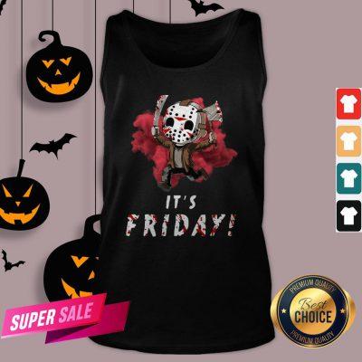 Jason Voorhees Chibi It'S Friday Halloween Tank TopJason Voorhees Chibi It'S Friday Halloween Tank Top