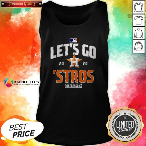 Let's Go Houston Astros 2020 Postseason T-Tank TopLet's Go Houston Astros 2020 Postseason T-Tank Top