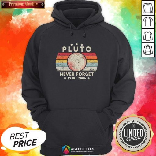Never Forget Pluto Vintage T-Hoodie