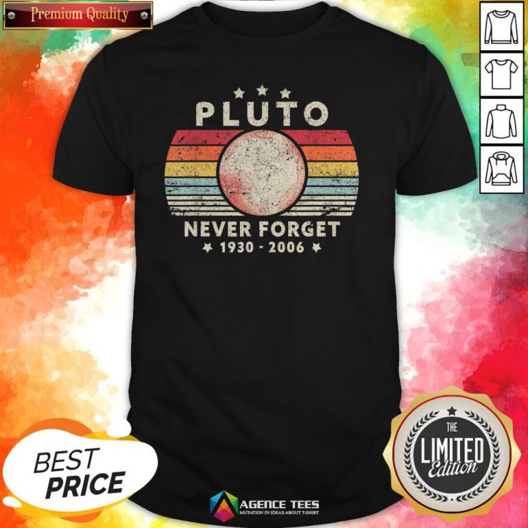 Never Forget Pluto Vintage T-Shirt