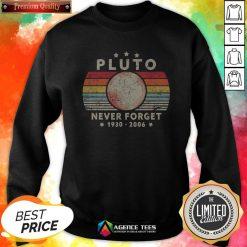 Never Forget Pluto Vintage T-Sweatshirt