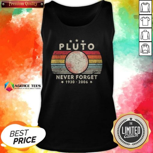 Never Forget Pluto Vintage T-Tank Top