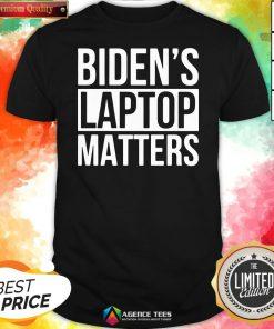 Nice Biden's Laptop Matters Classic Shirt Design By Agencet.com