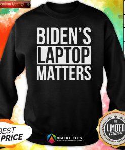 Nice Biden's Laptop Matters Classic Sweatshirt Design By Agencet.com