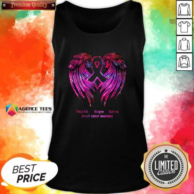 Nice Faith Hope Love Breast Cancer Awareness Pink Wings Tank Top Design By Agencet.com
