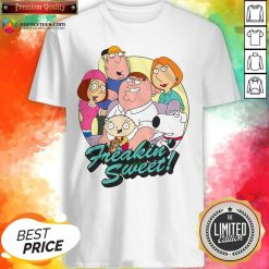 Nice Family Guy Freakin' Sweet Family Shot Shirt Design By Agencet.com
