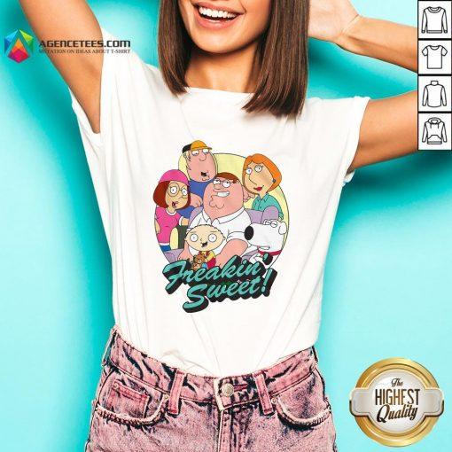 Nice Family Guy Freakin' Sweet Family Shot V-neck Design By Agencet.com