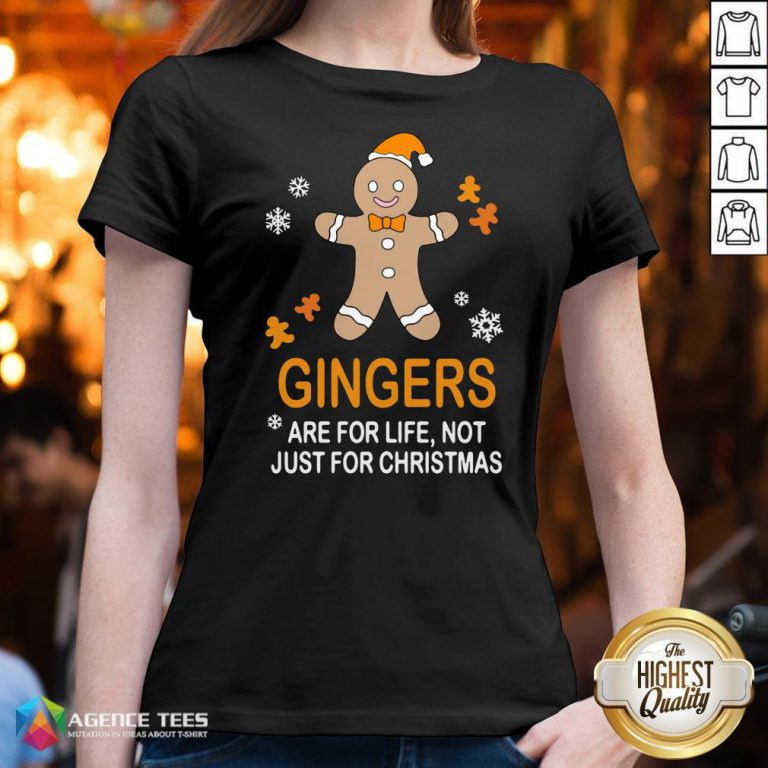 Nice Gingers Are For Life Not Just For Christmas V-neck Design By Agencet.com