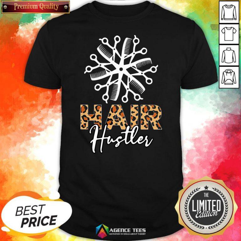 Nice Hair Hustler Leopard Vintage Shirt Design By Agencet.com