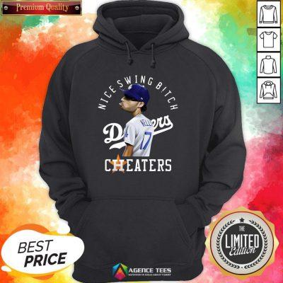 Nice Joe Kelly Nice Swing Bitch Dodgers Cheaters Hoodie Design By Agencet.com