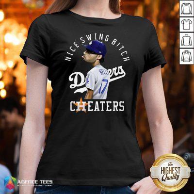 Nice Joe Kelly Nice Swing Bitch Dodgers Cheaters V-neck Design By Agencet.com