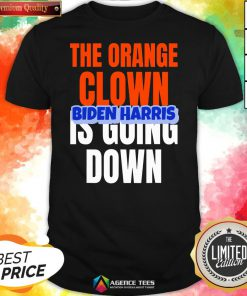 Nice The Orange Clown Is Going Down Biden Harris Shirt Design By Agencet.com