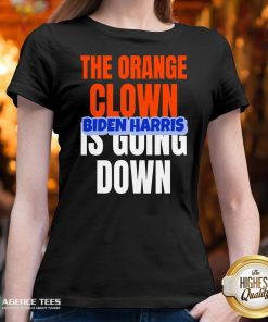 Nice The Orange Clown Is Going Down Biden Harris V-neck Design By Agencet.com