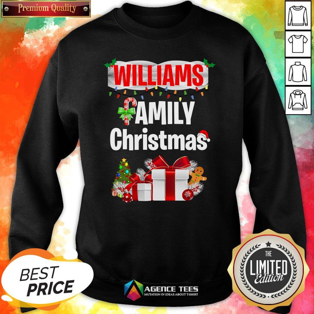 Nice Williams Family Gift Merry Christmas 2020 Sweatshirt Design By Agencet.com