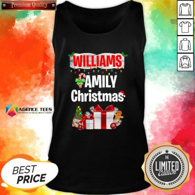Nice Williams Family Gift Merry Christmas 2020 Tank Top Design By Agencet.com