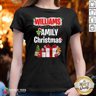 Nice Williams Family Gift Merry Christmas 2020 V-neck Design By Agencet.com