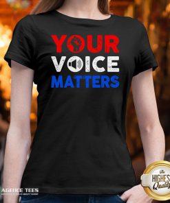 Nice Your Voice Matters Election 2020 V-neck Design By Agencet.com
