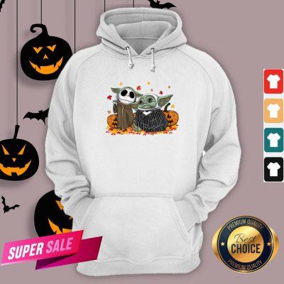 Official Baby Yoda And Baby Jack Skellington Pumpkin Halloween Hoodie