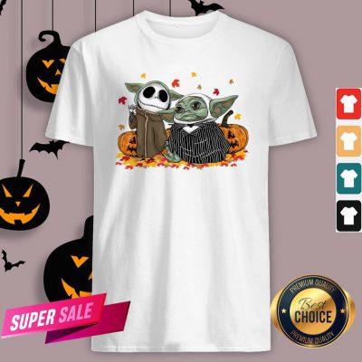 Official Baby Yoda And Baby Jack Skellington Pumpkin Halloween Shirt