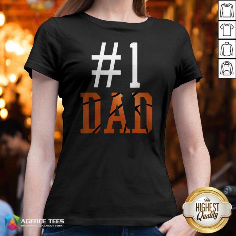 Official Basketball #1 Dad V-neck