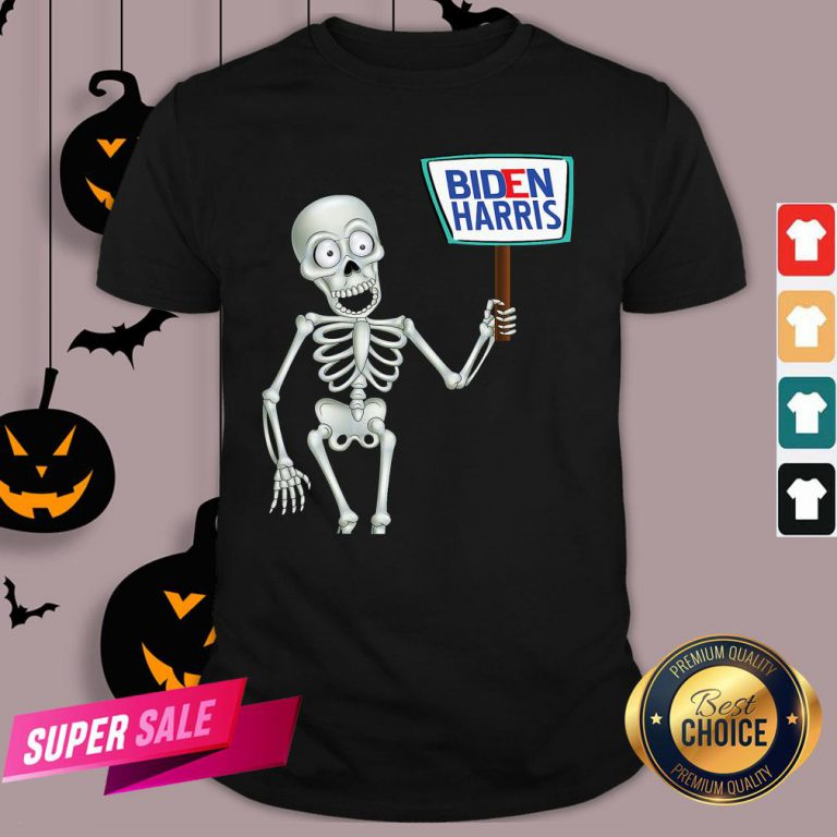 Official Funny Skeleton Voting 2020 Monsters Vote For Joe Biden's Shirt