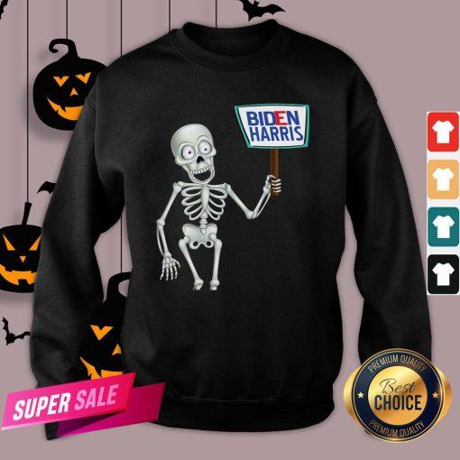 Official Funny Skeleton Voting 2020 Monsters Vote For Joe Biden's Sweatshirt