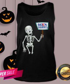 Official Funny Skeleton Voting 2020 Monsters Vote For Joe Biden's Tank Top