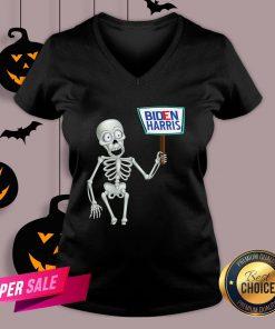 Official Funny Skeleton Voting 2020 Monsters Vote For Joe Biden's V-neck