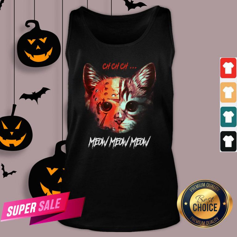 Official Jason Voorhees Cat Ch Ch Ch Meow Meow Meow Tank Top