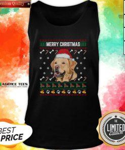 Official Labrador Merry Xmas Ugly Christmas Tank Top