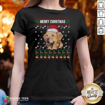 Official Labrador Merry Xmas Ugly Christmas V-neck