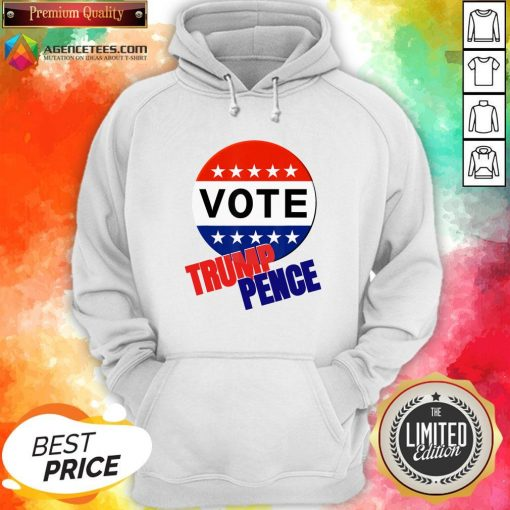 Official Vote Trump Pence American Flag Hoodie
