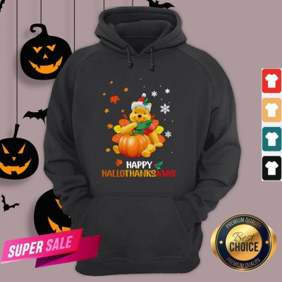 Pooh Bear Happy Hallothanksmas Hoodie