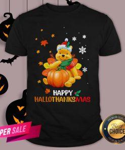 Pooh Bear Happy Hallothanksmas Shirt