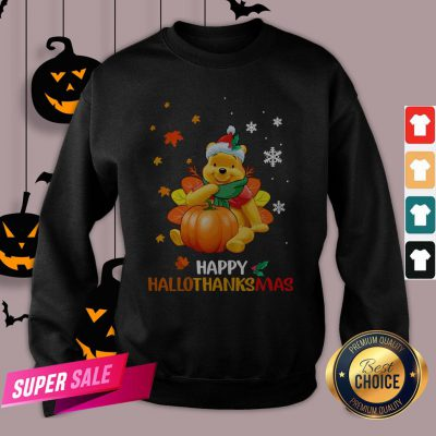 Pooh Bear Happy Hallothanksmas Sweatshirt