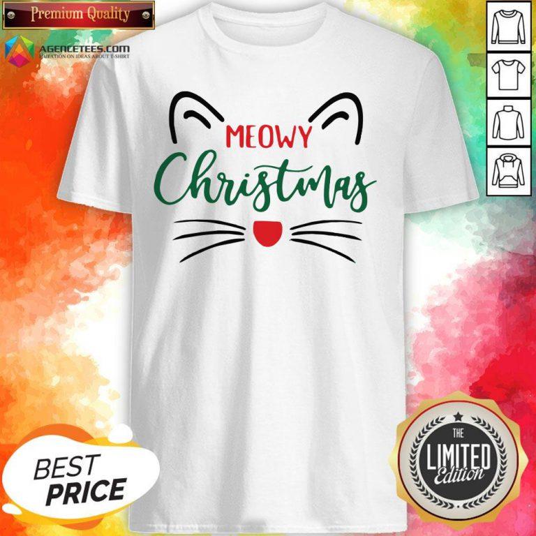 Premium Meowy Christmas Shirt Design By Agencet.com