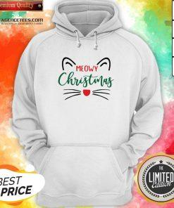 Premium Meowy Christmas Hoodie Design By Agencet.com
