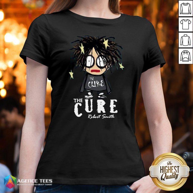 Premium The Cure Robert Smith V-neck Design By Agencet.com