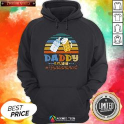 Promoted To Daddy Est 2020 Quarantined Vintage Hoodie