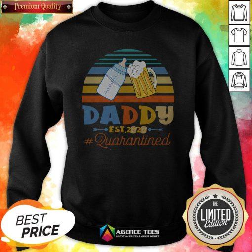 Promoted To Daddy Est 2020 Quarantined Vintage Sweatshirt