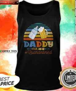 Promoted To Daddy Est 2020 Quarantined Vintage Tank Top