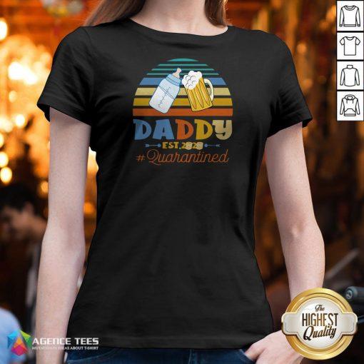 Promoted To Daddy Est 2020 Quarantined Vintage V-neck