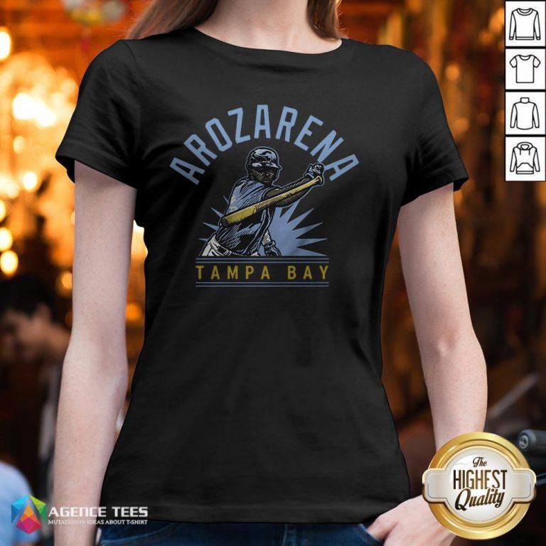 Randy Arozarena Tampa Bay Baseball ShirtRandy Arozarena Tampa Bay Baseball V-neck