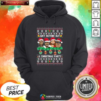 Rap Legends Ain'T Nothin' But A Christmas Party Ugly Christmas Hoodie