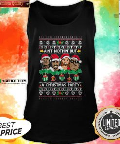 Rap Legends Ain'T Nothin' But A Christmas Party Ugly Christmas Tank Top